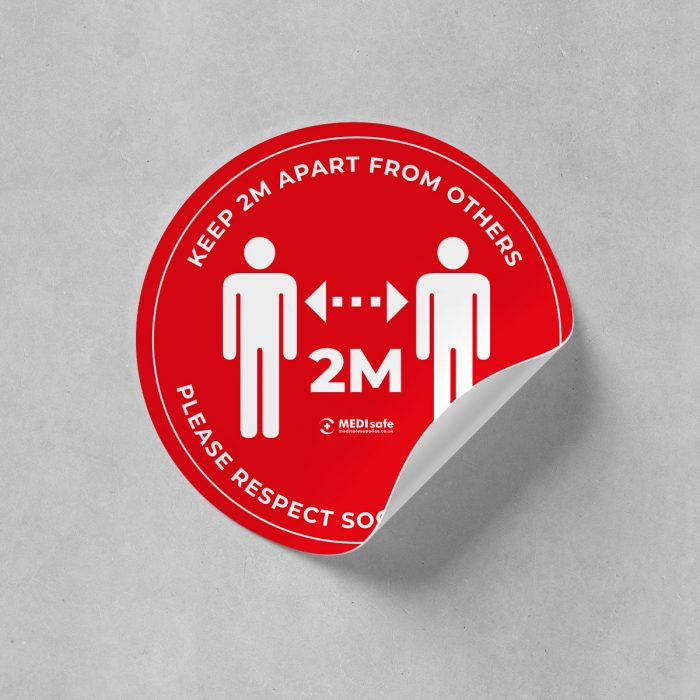 keep 2 metres apart from others social distancing stickers buy online
