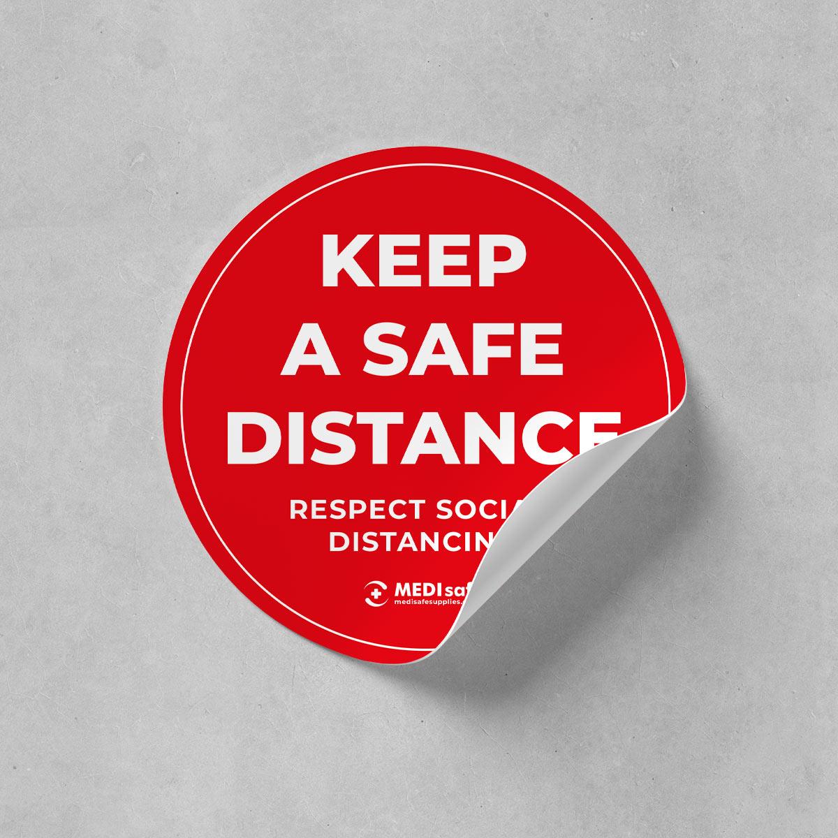 buy keep a safe distance floor stickers online