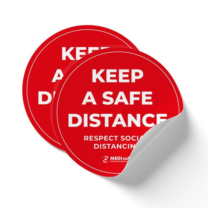keep a safe distance stand 2m apart social distance floor stickers
