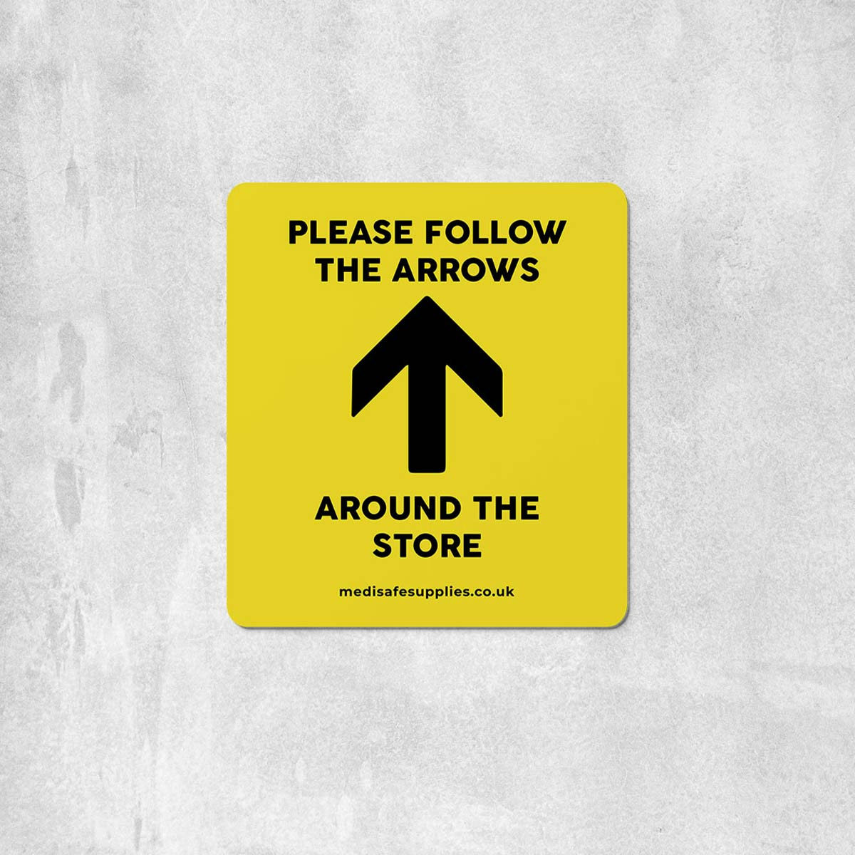 Please Follow The Arrows Floor Stickers (Rectangular)   Social Distancing