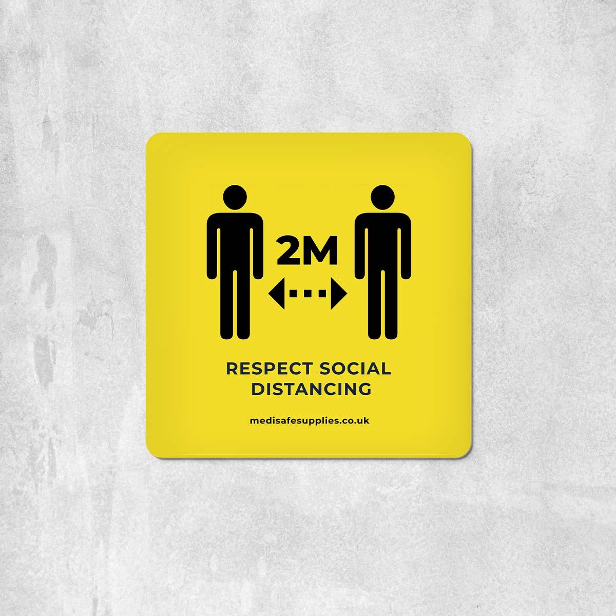 2m Floor Stickers (Please Keep 2M Apart) Social Distancing