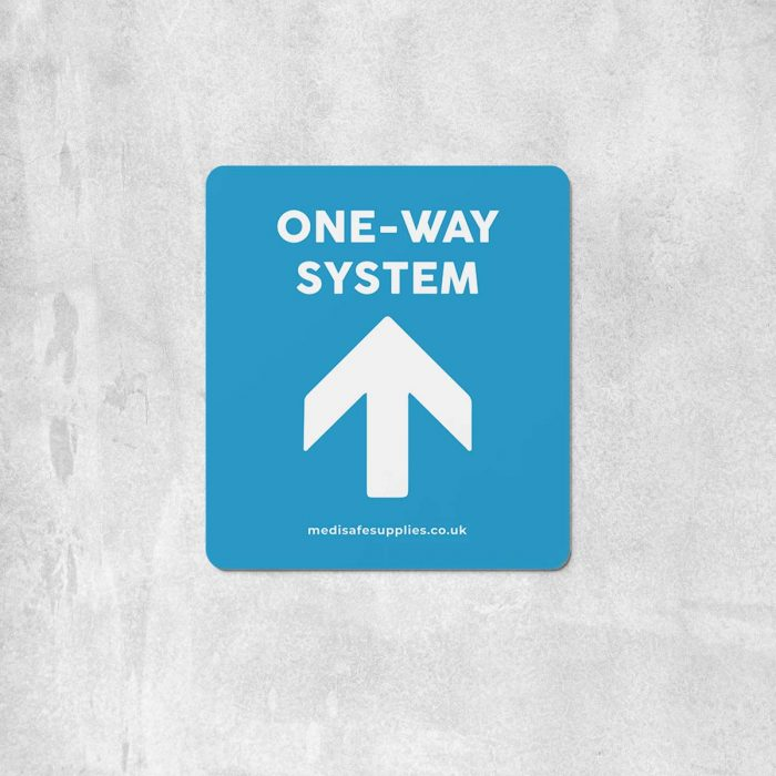 Arrow Floor Stickers   Social Distancing   One Way System Floor Stickers blue