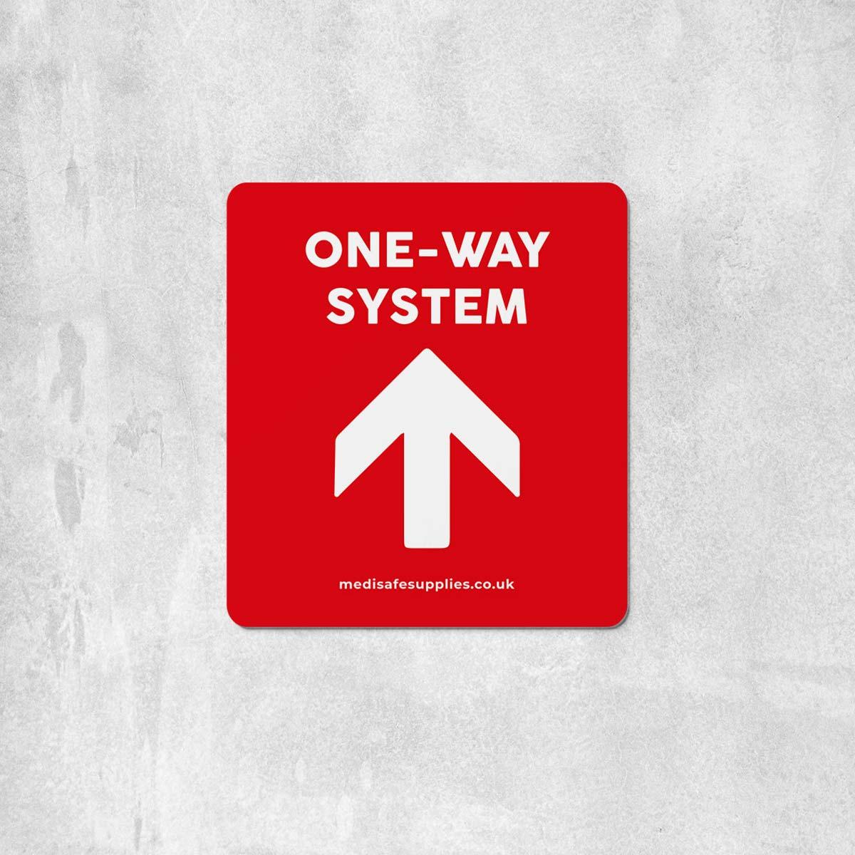 Arrow Floor Stickers   Social Distancing   One Way System Floor Stickers red