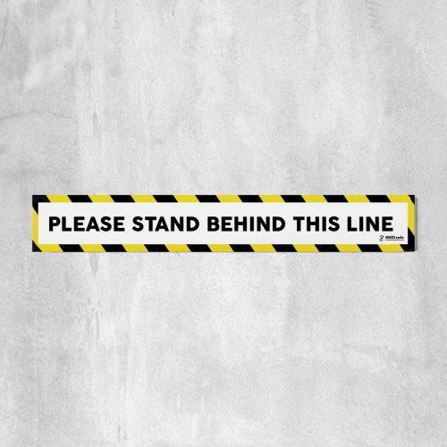 Please Stand Behind This Line Floor Stickers