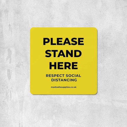 please stand here Floor Stickers social distancing floor stickers