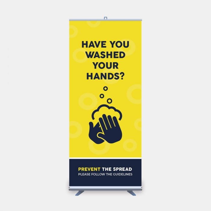 have you washed your hands roll up banner